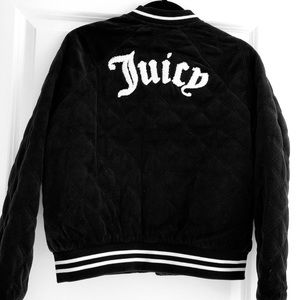 New Juicy couture Quilted Velour Bomber Jacket